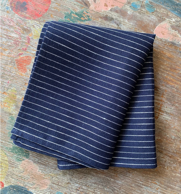 Kitchen Cloth - Navy & White Stripe