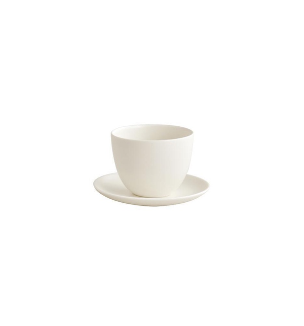 Pebble Cup & Saucer, White