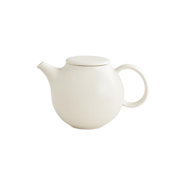 Pebble Teapot, White