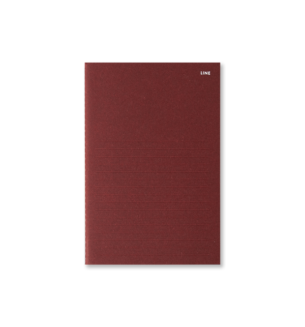 Slim Note - Line, Burgundy