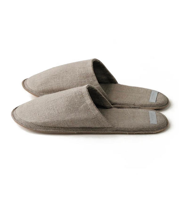 Natural Linen Slippers