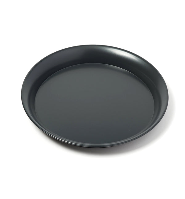 Spun Steel Tray - Black Blue