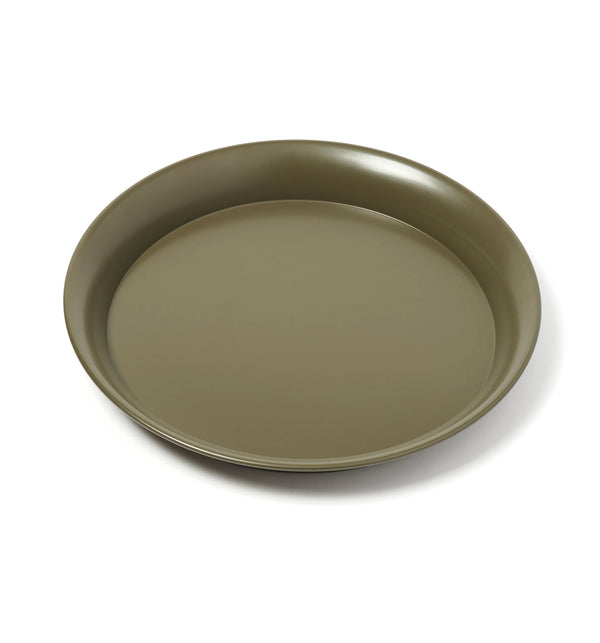 Spun Steel Tray - Olive Green