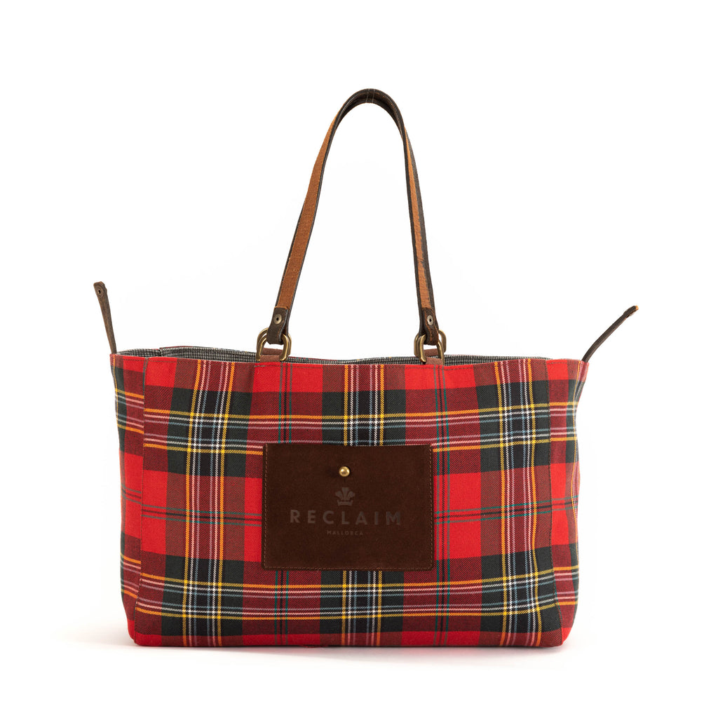 Red/Black Flannel Alaro Tote Bag