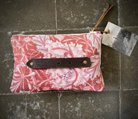 PETRA Bespoke One-Of-A-Kind  Charcoal British Velvet & Liberty of London Flower Print Clutch