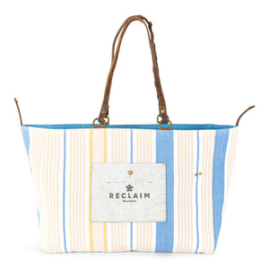 Blue Yellow Stripe Orient Tote Bag