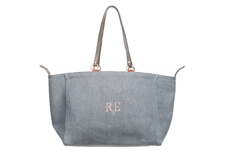 Grey Pink Coral Orient Tote Bag