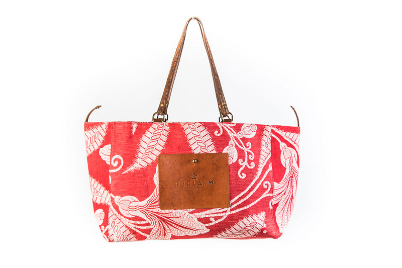 Red Stripe Orient Tote Bag