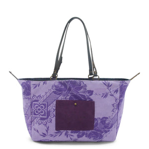 Purple Green Ivy Orient Tote Bag