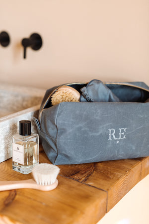 Recycled Waxed Canvas Wash Kit