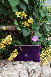 PETRA Purple Velvet Clutch