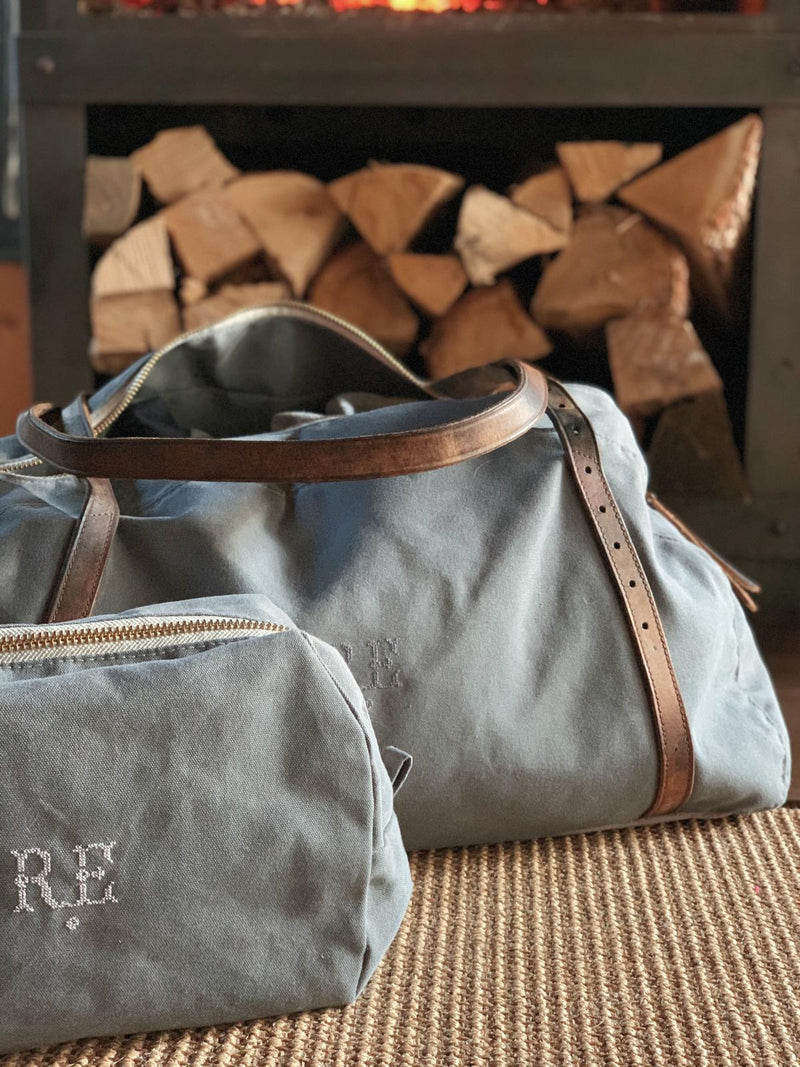 Recycled Waxed Canvas Weekend Bag