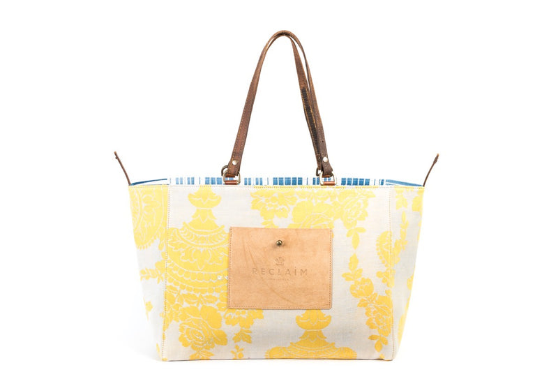 Yellow Floral Orient Tote Bag