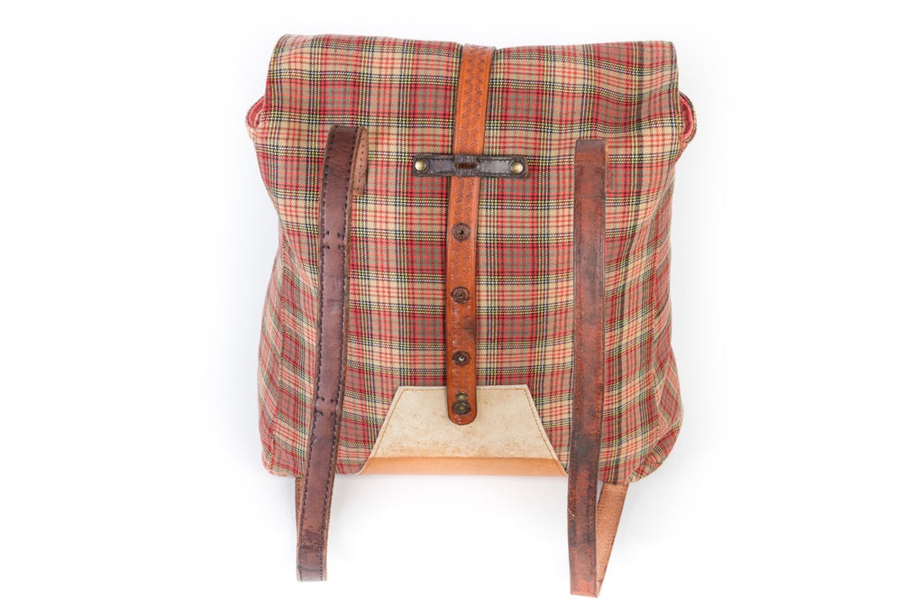 Red Plaid Soller Rucksack