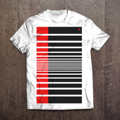 The Barcode - Short Sleeve White Tee