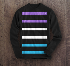 The Stacks - Long Sleeve Black Tee