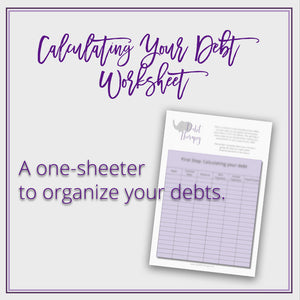 Calculate Your Debts Worksheet