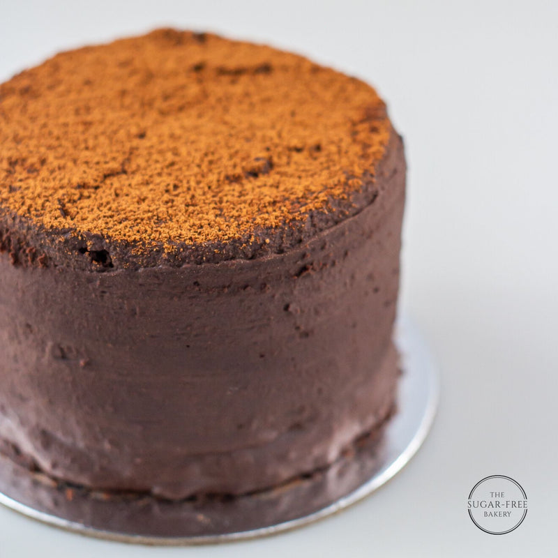 Sugar-Free Vegan Tablea Chocolate Cake