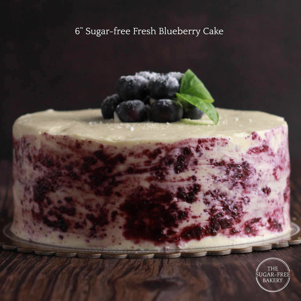 Sugar-Free Fresh Blueberry Cake
