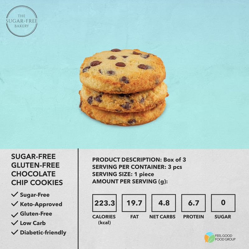 Sugar-Free Gluten-Free Chocolate Chip Cookies