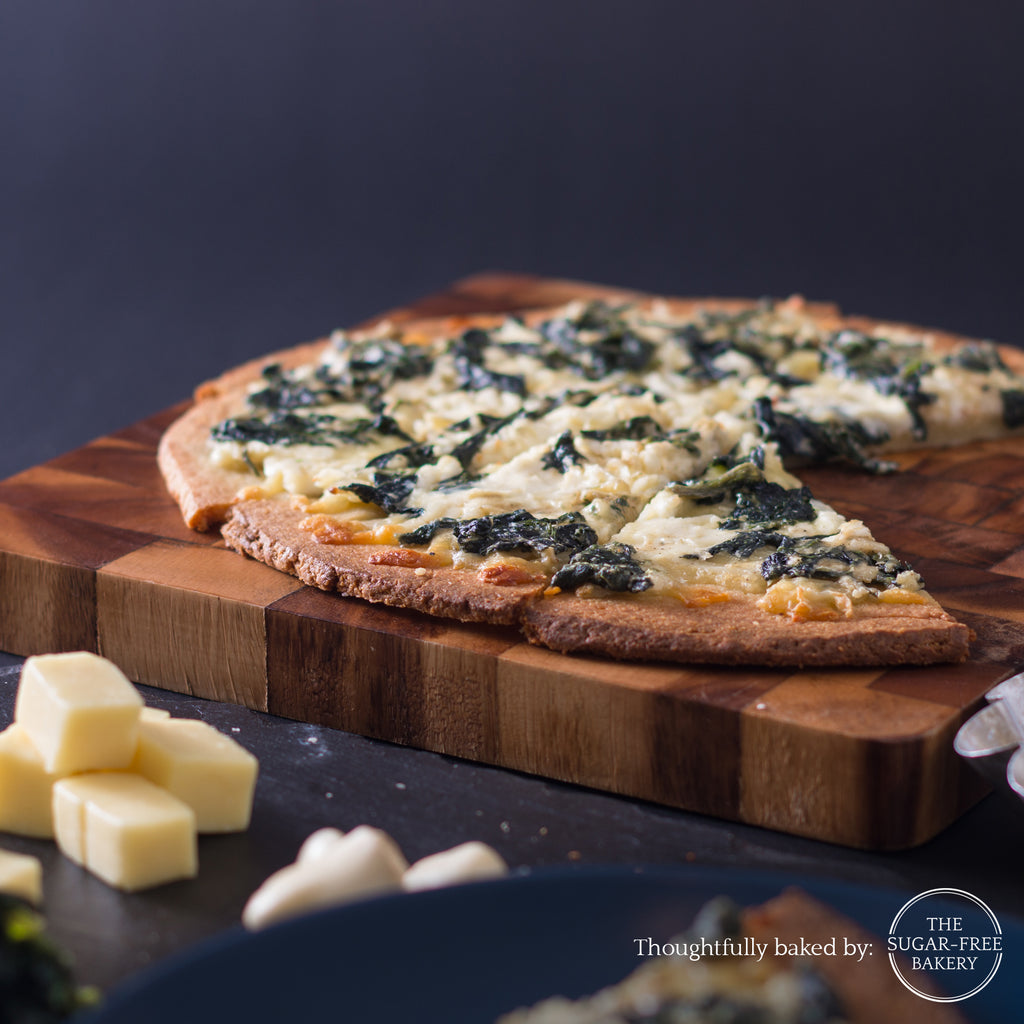 Keto Signature Spinach and Cream Cheese pizza