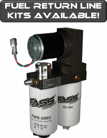 FASS Titanium Series Diesel Fuel Lift Pump 220GPH55PSI Ford Powerstroke 6.7L 2011-2012