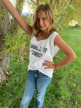 Load image into Gallery viewer, Saddle Up Cowboy Tank- Youth Medium