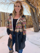 Load image into Gallery viewer, Hanging With My Friends Aztec Cardigan