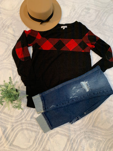 Kassie Plaid Sweater