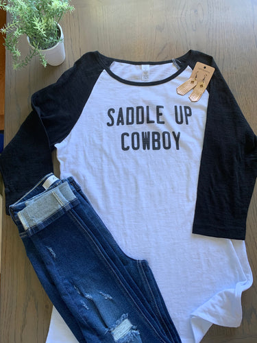 Saddle up Cowboy Baseball Tee