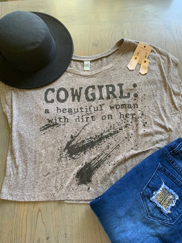Cowgirl definition Crop Top