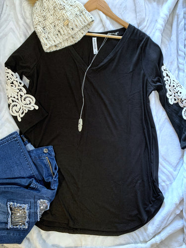 Lace Empire Top