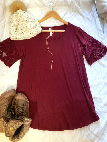Cabernet Lace Top