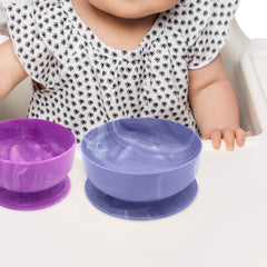 Silicone Suction Bowls with baby