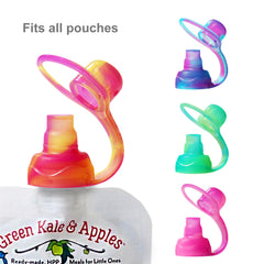 SoftSip Food Pouch Silicone Tops - 4 CT | Swirl Colors