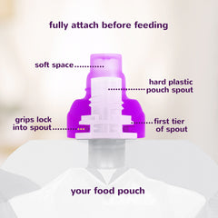 SoftSip Food Pouch Silicone Tops + Case | White, 2 CT