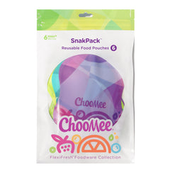 SnakPack TropiColor Reusable Food Pouch - 6 CT | 8 oz