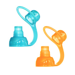 SoftSip Pouch Tops - 2 CT | Orange Aqua