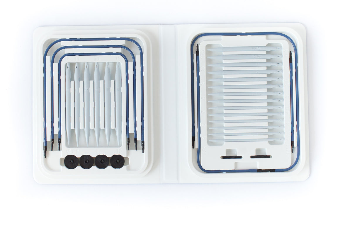 Blue Knitting Kit