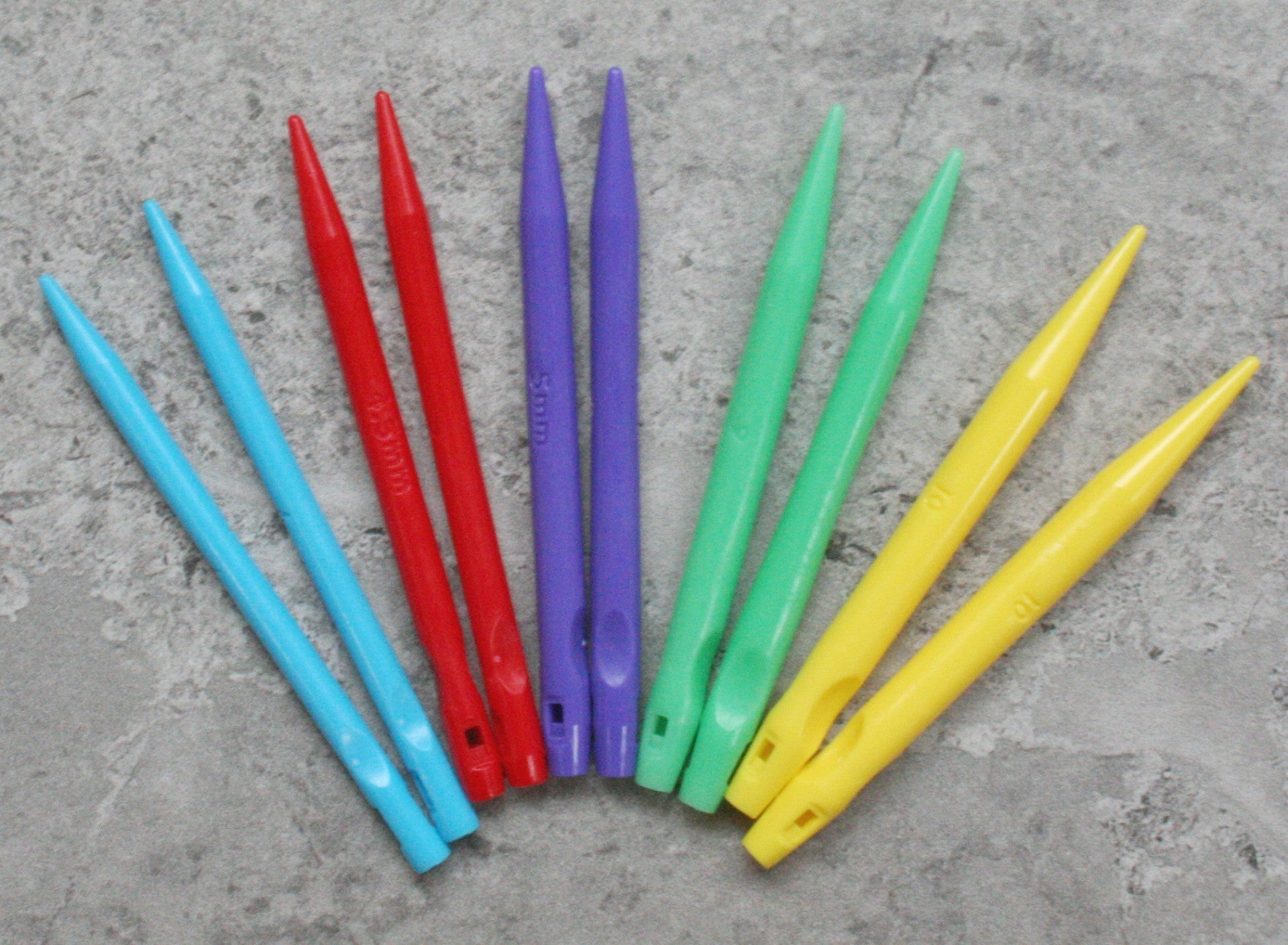 Knitting Needle pairs Double Pointed sizes sold individually or as whole set