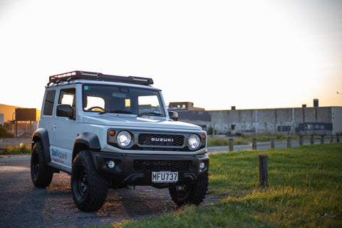 JB74 Suzuki Jimny (2019-2021) Roof Rack with Lightbar and Ladder