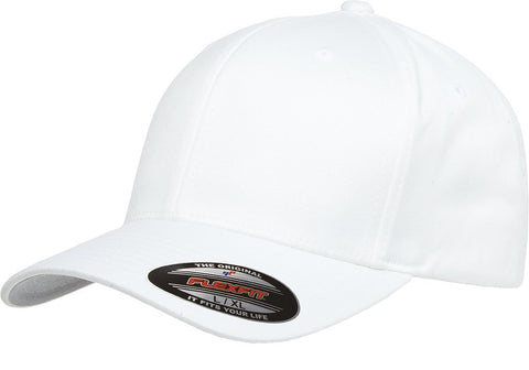 Flexfit Wooly Combed Twill Cap White