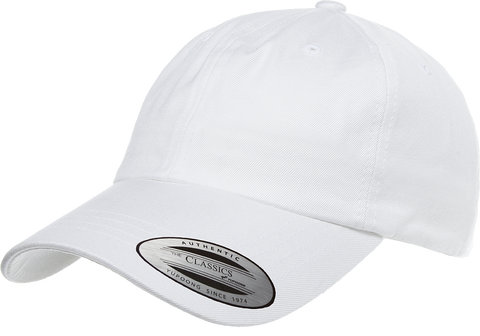 Yupoong Low Profile Cotton Twill Dad Hat White