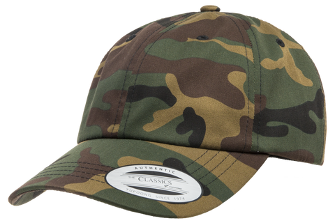 Yupoong Low Profile Cotton Twill Dad Hat Camo
