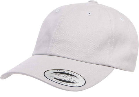Yupoong Peached Cotton Twill Dad Cap Light Grey – I Love Hats 304394e33c64