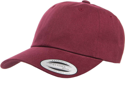 Yupoong Peached Cotton Twill Dad Cap Maroon