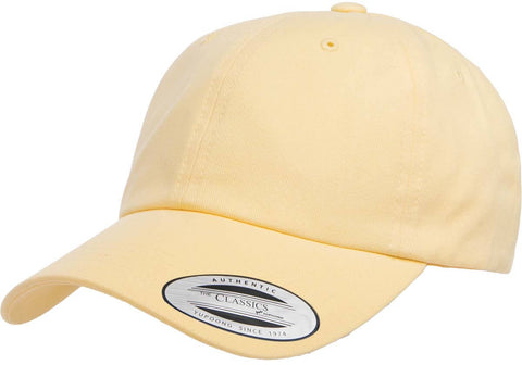Yupoong Peached Cotton Twill Dad Cap Yellow