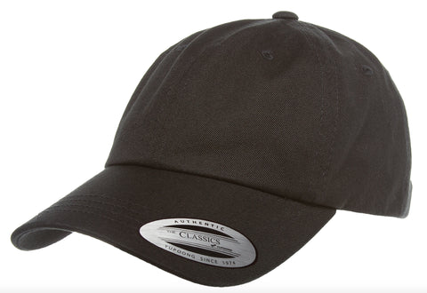 Yupoong Low Profile Cotton Twill Dad Hat Black
