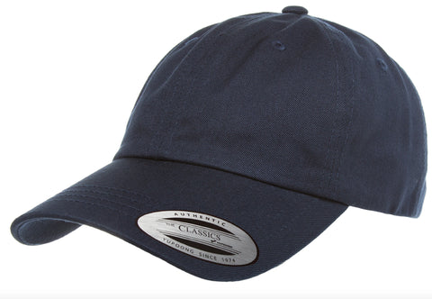Yupoong Low Profile Cotton Twill Dad Hat Navy
