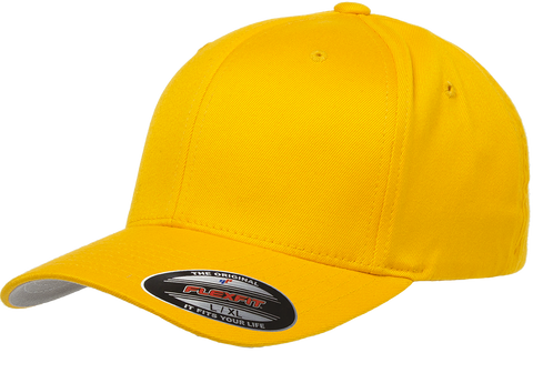 Flexfit Wooly Combed baseball cap Gold